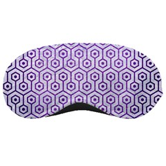 Hexagon1 White Marble & Purple Brushed Metal (r) Sleeping Masks