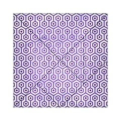 Hexagon1 White Marble & Purple Brushed Metal (r) Acrylic Tangram Puzzle (6  X 6 ) by trendistuff