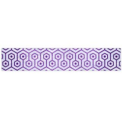Hexagon1 White Marble & Purple Brushed Metal (r) Large Flano Scarf