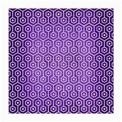 Hexagon1 White Marble & Purple Brushed Metal Medium Glasses Cloth