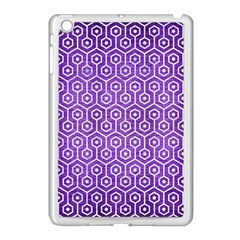 Hexagon1 White Marble & Purple Brushed Metal Apple Ipad Mini Case (white) by trendistuff