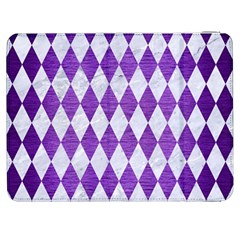 Diamond1 White Marble & Purple Brushed Metal Samsung Galaxy Tab 7  P1000 Flip Case by trendistuff