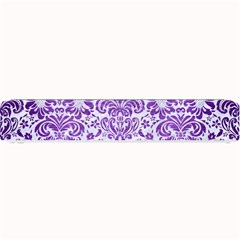 Damask2 White Marble & Purple Brushed Metal (r) Small Bar Mats