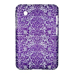 Damask2 White Marble & Purple Brushed Metal (r) Samsung Galaxy Tab 2 (7 ) P3100 Hardshell Case