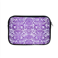 Damask2 White Marble & Purple Brushed Metal (r) Apple Macbook Pro 15  Zipper Case