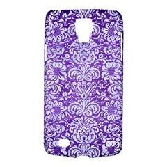 Damask2 White Marble & Purple Brushed Metal Galaxy S4 Active by trendistuff