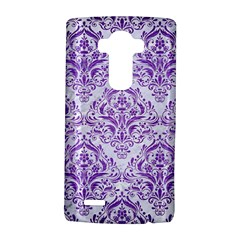 Damask1 White Marble & Purple Brushed Metal (r) Lg G4 Hardshell Case