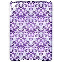 Damask1 White Marble & Purple Brushed Metal (r) Apple Ipad Pro 9 7   Hardshell Case