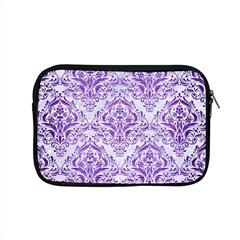 Damask1 White Marble & Purple Brushed Metal (r) Apple Macbook Pro 15  Zipper Case