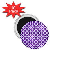 Circles3 White Marble & Purple Brushed Metal (r) 1 75  Magnets (10 Pack)