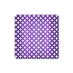 Circles3 White Marble & Purple Brushed Metal (r) Square Magnet