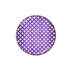 Circles3 White Marble & Purple Brushed Metal (r) Hat Clip Ball Marker (10 Pack)