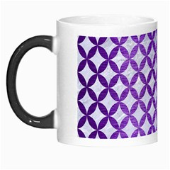 Circles3 White Marble & Purple Brushed Metal (r) Morph Mugs