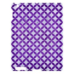 Circles3 White Marble & Purple Brushed Metal (r) Apple Ipad 3/4 Hardshell Case
