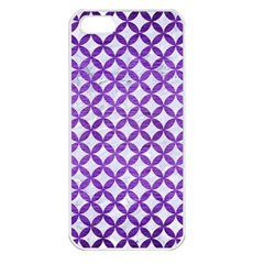 Circles3 White Marble & Purple Brushed Metal (r) Apple Iphone 5 Seamless Case (white)