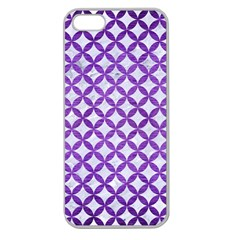 Circles3 White Marble & Purple Brushed Metal (r) Apple Seamless Iphone 5 Case (clear)