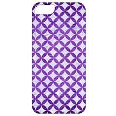 Circles3 White Marble & Purple Brushed Metal (r) Apple Iphone 5 Classic Hardshell Case