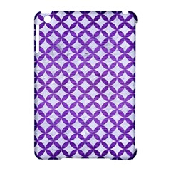 Circles3 White Marble & Purple Brushed Metal (r) Apple Ipad Mini Hardshell Case (compatible With Smart Cover)