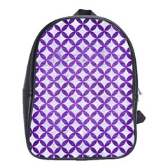 Circles3 White Marble & Purple Brushed Metal (r) School Bag (xl)