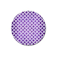 Circles3 White Marble & Purple Brushed Metal Magnet 3  (round) by trendistuff