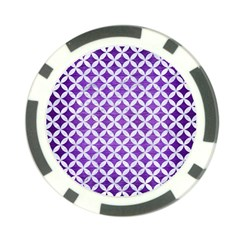 Circles3 White Marble & Purple Brushed Metal Poker Chip Card Guard by trendistuff