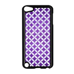 Circles3 White Marble & Purple Brushed Metal Apple Ipod Touch 5 Case (black)