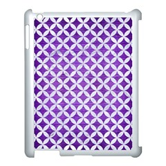 Circles3 White Marble & Purple Brushed Metal Apple Ipad 3/4 Case (white)