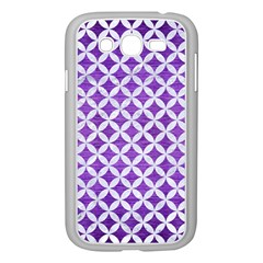 Circles3 White Marble & Purple Brushed Metal Samsung Galaxy Grand Duos I9082 Case (white)