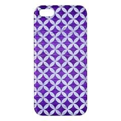 Circles3 White Marble & Purple Brushed Metal Iphone 5s/ Se Premium Hardshell Case