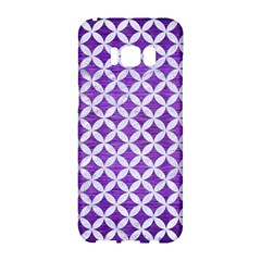 Circles3 White Marble & Purple Brushed Metal Samsung Galaxy S8 Hardshell Case