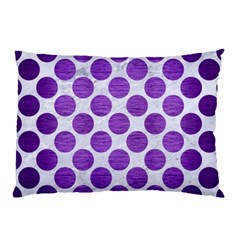 Circles2 White Marble & Purple Brushed Metal (r) Pillow Case (two Sides)