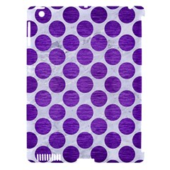 Circles2 White Marble & Purple Brushed Metal (r) Apple Ipad 3/4 Hardshell Case (compatible With Smart Cover)