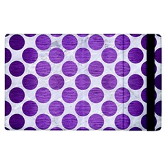 Circles2 White Marble & Purple Brushed Metal (r) Apple Ipad 2 Flip Case