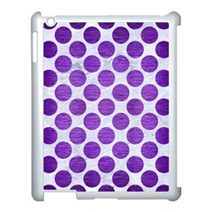 Circles2 White Marble & Purple Brushed Metal (r) Apple Ipad 3/4 Case (white) by trendistuff