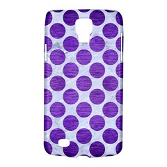 Circles2 White Marble & Purple Brushed Metal (r) Galaxy S4 Active