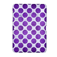 Circles2 White Marble & Purple Brushed Metal (r) Samsung Galaxy Tab 2 (10 1 ) P5100 Hardshell Case