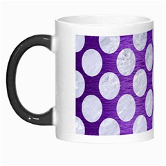 Circles2 White Marble & Purple Brushed Metal Morph Mugs