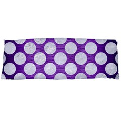Circles2 White Marble & Purple Brushed Metal Body Pillow Case Dakimakura (two Sides) by trendistuff
