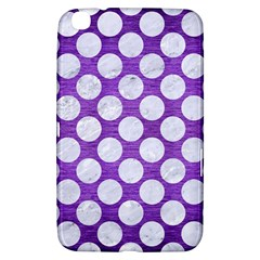 Circles2 White Marble & Purple Brushed Metal Samsung Galaxy Tab 3 (8 ) T3100 Hardshell Case