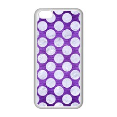 Circles2 White Marble & Purple Brushed Metal Apple Iphone 5c Seamless Case (white)