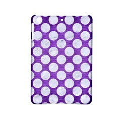 Circles2 White Marble & Purple Brushed Metal Ipad Mini 2 Hardshell Cases