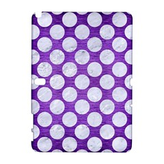 Circles2 White Marble & Purple Brushed Metal Galaxy Note 1