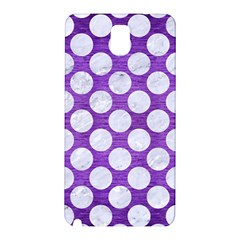 Circles2 White Marble & Purple Brushed Metal Samsung Galaxy Note 3 N9005 Hardshell Back Case