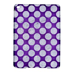 Circles2 White Marble & Purple Brushed Metal Ipad Air 2 Hardshell Cases