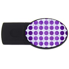 Circles1 White Marble & Purple Brushed Metal (r) Usb Flash Drive Oval (4 Gb)