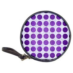 Circles1 White Marble & Purple Brushed Metal (r) Classic 20 Cd Wallets by trendistuff