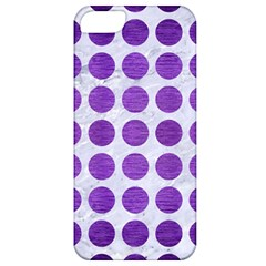 Circles1 White Marble & Purple Brushed Metal (r) Apple Iphone 5 Classic Hardshell Case