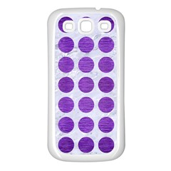 Circles1 White Marble & Purple Brushed Metal (r) Samsung Galaxy S3 Back Case (white)