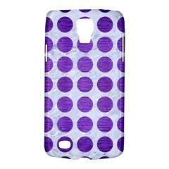 Circles1 White Marble & Purple Brushed Metal (r) Galaxy S4 Active