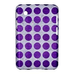 Circles1 White Marble & Purple Brushed Metal (r) Samsung Galaxy Tab 2 (7 ) P3100 Hardshell Case